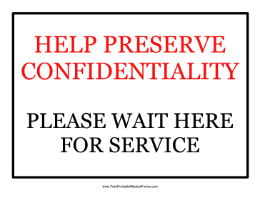 Confidentiality Sign Medical Form