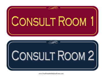 Consultation Room Sign Medical Form