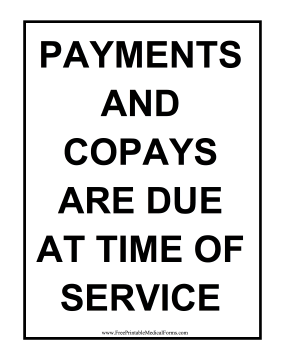 Copay Sign Medical Form