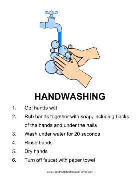 Handwashing Sign Medical Form