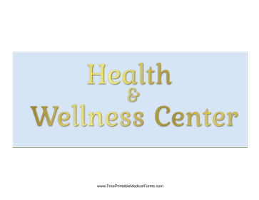 Health And Wellness Sign Medical Form
