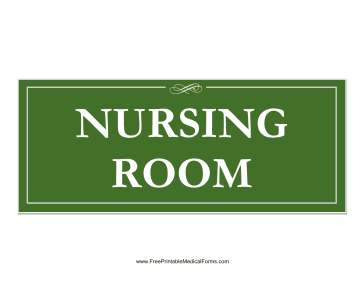 Nursing Room Sign Medical Form