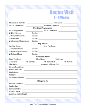 Pregnancy Journal 1 Medical Form