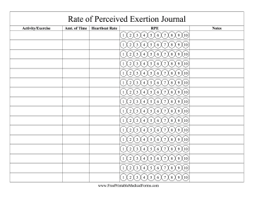 RPE Journal Medical Form