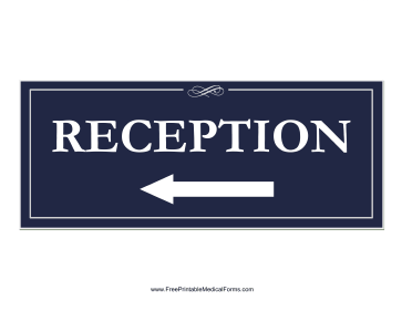 Reception Left Sign Medical Form
