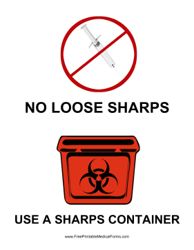 Sharps Container Sign Medical Form