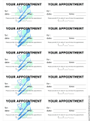 Dental Office Treatment Reminder Cards