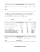 Flu Shot Consent Form