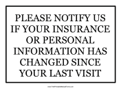 Insurance Change Sign