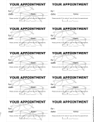 Optometrist Appointment Reminder Cards
