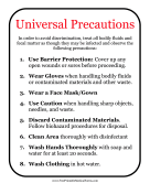 Universal Precautions Sign