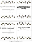 Veterinary Euthanasia Card
