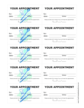 photograph relating to Free Printable Appointment Reminder Cards titled Printable Dental Workplace Method Reminder Playing cards