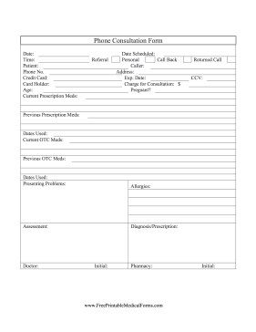 medical consult form Medical Office Forms